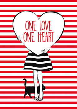 Ilustracija Heart Girl