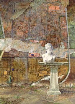 Herculaneum Site Plan, 1994 Reprodukcija umjetnosti