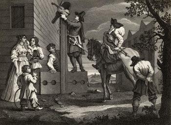 Hudibras leading Crowdero in Triumph, from 'Hudibras' by Samuel Butler (1612-80) engraved by J. Romney, from 'The Works of William Hogarth', published 1833 Reprodukcija umjetnosti