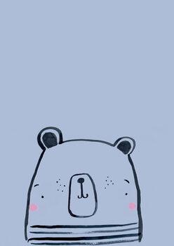 Ilustracija Inky line polar bear