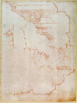 Inv. 1859 6-25-560/2. R. (W.19) Drawing of architectural details Reprodukcija umjetnosti
