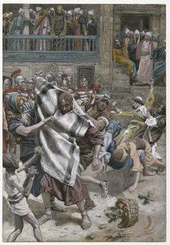 Jesus Before Herod, illustration from 'The Life of Our Lord Jesus Christ', 1886-94 Reprodukcija umjetnosti