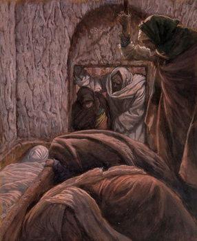 Jesus in the Tomb, illustration for 'The Life of Christ', c.1884-96 Reprodukcija umjetnosti