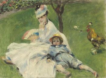 Madame Monet and Her Son, 1874 Reprodukcija umjetnosti