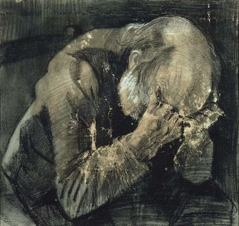 Man with his head in his hands Reprodukcija umjetnosti
