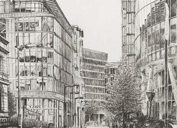 Manchester, Deansgate, view from cafe,2010, Reprodukcija umjetnosti