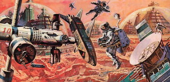 Mars, colonised by man, as envisaged in the 1980s Reprodukcija umjetnosti