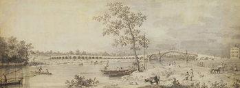 Old Walton Bridge seen from the Middlesex Shore, 1755 Reprodukcija umjetnosti