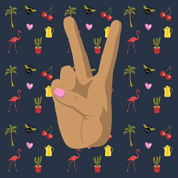 Peace and Love Reprodukcija umjetnosti
