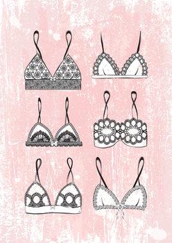 Ilustracija Pink Lingerie