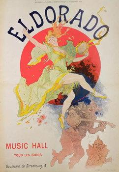 Poster for El Dorado by Jules Cheret Reprodukcija umjetnosti