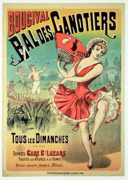 Poster for the 'Bal des Canotiers, Bougival' Reprodukcija umjetnosti