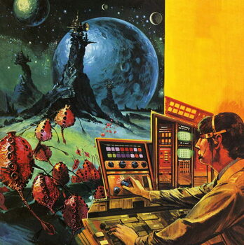 Radio astronomers searching for extraterrestrial life Reprodukcija umjetnosti