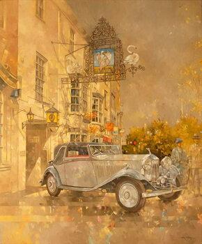 Rolls Royce outside the Swan Hotel, Market Harborough Reprodukcija umjetnosti