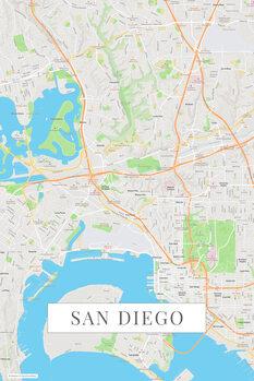 Karta San Diego color