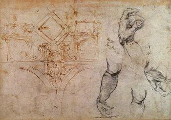 Scheme for the Sistine Chapel Ceiling, c.1508 Reprodukcija umjetnosti