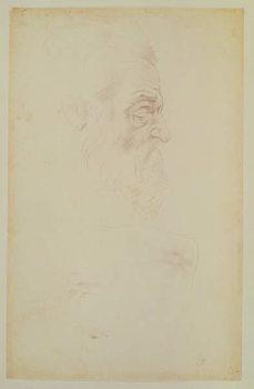 Sketch of a male head and two legs Reprodukcija umjetnosti