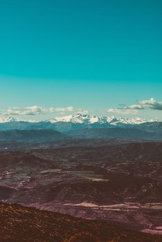 Umjetnička fotografija Snow mountains at background