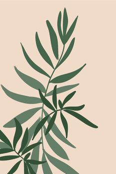 Ilustracija Solid greenery in green