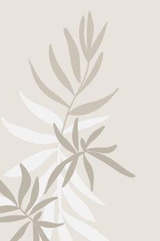 Ilustracija Solid greenery in neutrals