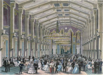 Sophien-Bad-Saal, a court ball in the Hofburg Palace, Vienna Reprodukcija umjetnosti