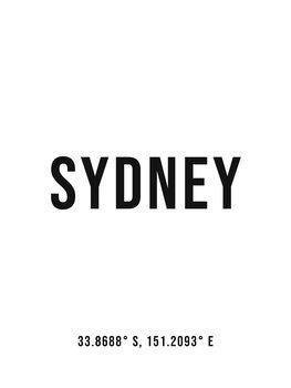 Ilustracija Sydney simple coordinates