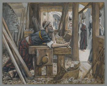 The Anxiety of Saint Joseph, illustration from 'The Life of Our Lord Jesus Christ' Reprodukcija umjetnosti