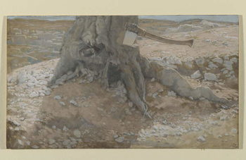 The Axe in the Trunk of the Tree, illustration from 'The Life of Our Lord Jesus Christ' Reprodukcija umjetnosti