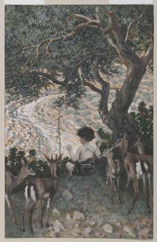 The Childhood of Saint John the Baptist, illustration from 'The Life of Our Lord Jesus Christ' Reprodukcija umjetnosti