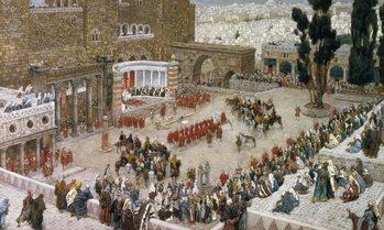 The Forum of Jerusalem as Seen From Above, illustration to 'The Life of Christ', c.1886-96 Reprodukcija umjetnosti