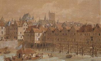 The Grand Chatelet and the Pont aux Meuniers Reprodukcija umjetnosti