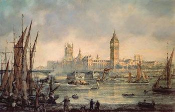 The Houses of Parliament and Westminster Bridge Reprodukcija umjetnosti