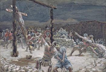 The Raising of the Cross, illustration for 'The Life of Christ', c.1886-94 Reprodukcija umjetnosti