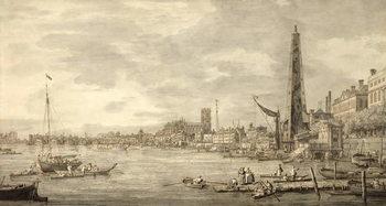 The Thames Looking towards Westminster from near York Water Gate Reprodukcija umjetnosti