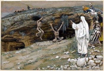 The Two Men Possessed with Unclean Spirits, illustration for 'The Life of Christ', c.1884-96 Reprodukcija umjetnosti