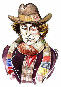 Tom Baker as Doctor Who in BBC television series of same name Reprodukcija umjetnosti