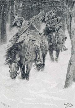 Travelling in Frontier Days, illustration from 'The City of Cleveland' by Edmund Kirke, pub. in Harper's Magazine, 1886 Reprodukcija umjetnosti