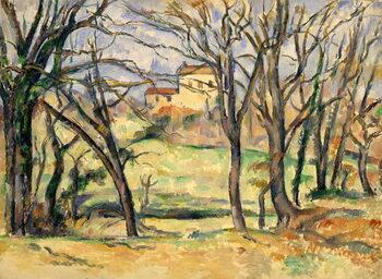 Trees and Houses Near the Jas de Bouffan Reprodukcija umjetnosti