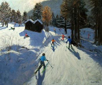 Two mountain huts, Pleney, Morzine Reprodukcija umjetnosti