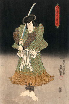 Ukiyo-e Print of an Actor Playing a Samurai by Kunisada Reprodukcija umjetnosti