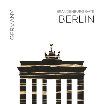 Ilustracija Urban Art BERLIN Brandenburg Gate