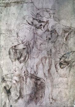 Various studies, verso of Study for David Reprodukcija umjetnosti