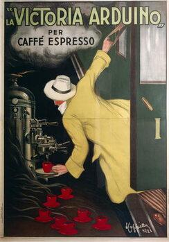 Victoria Arduino espresso coffee machine, by Leonetto Cappiello , illustration, 1922. Reprodukcija umjetnosti