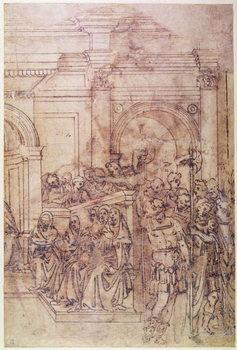 W.29 Sketch of a crowd for a classical scene Reprodukcija umjetnosti