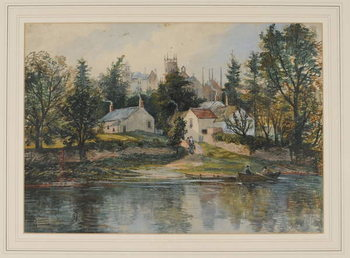 Wetheral Ferry, 1840-43 Reprodukcija umjetnosti
