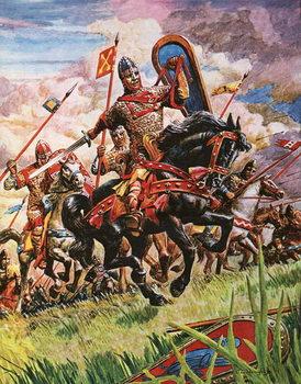 William the Conqueror at the battle of Hastings Reprodukcija umjetnosti