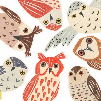 A Parliament Of Owls, 2018, collagraph collage Reprodukcija umjetnosti