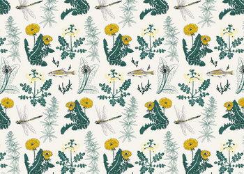 Botanical Kingfisher Reprodukcija umjetnosti