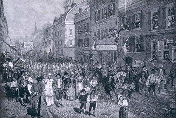 Carnival at Philadelphia, illustration from 'The Battle of Monmouth Court House' by Benson J. Lossing, pub. in Harper's Magazine, June 1878 Reprodukcija umjetnosti