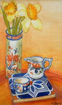 Chinese Vase with Daffodils, Pot and Jug,2014 Reprodukcija umjetnosti